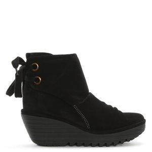 Fly London Yama Boot In Black Suede 40